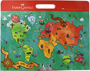 Faber-Castell My World of Art Portfolio for Kids - 8 Expandable Folder Pockets for Kid's Artwork and Keepsakes