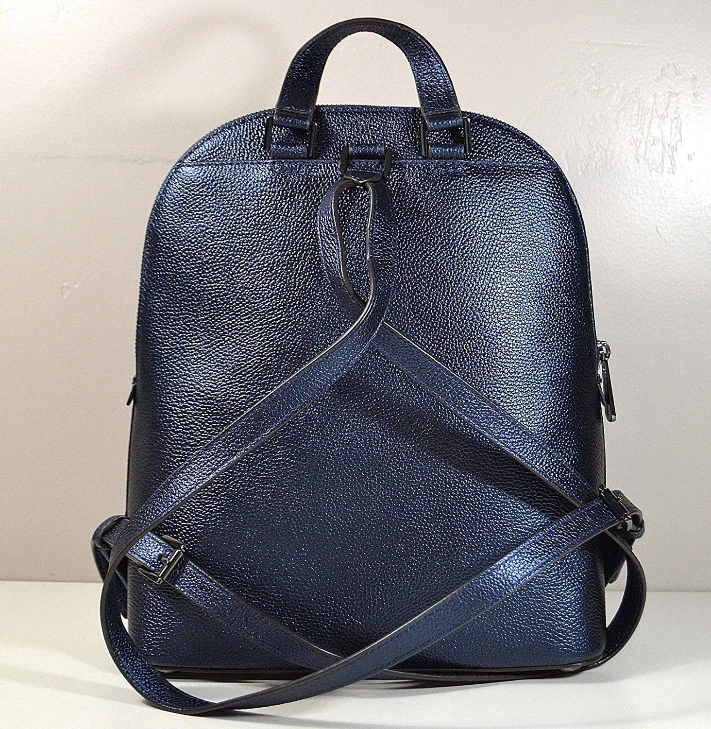 51c81cc7ab5bdc ... greece amazon michael kors adele large leather backpack in midnight  shoes 87350 facd4