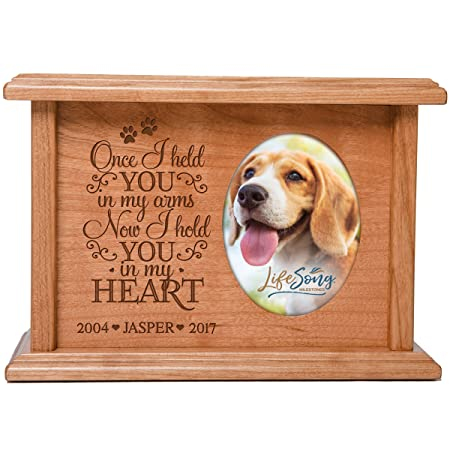 Cremation Urns for Pets SMALL Memorial Keepsake box for Dogs and Cats, personalized Urn for pet ashes Once I held YOU in my arms Now I hold YOU in my HEART SMALL portion of ashes holds 2×3 phot