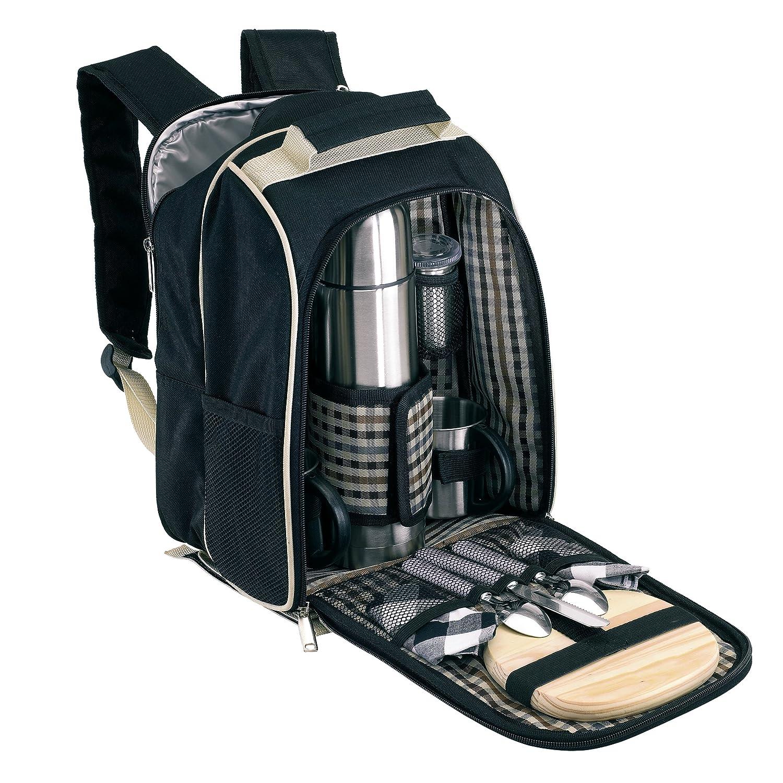 *Picknickrucksack für 2 Personen mit Kühlfach ohne Picknickdecke*