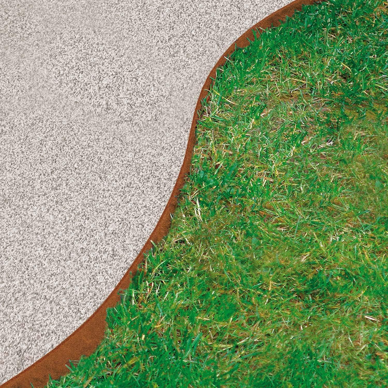 Césped borde Acero Corten galvanizado (118 x 20 cm: Amazon.es: Jardín