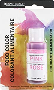 LorAnn Pink Liquid Food Color, 1 ounce squeeze bottle - Blistered