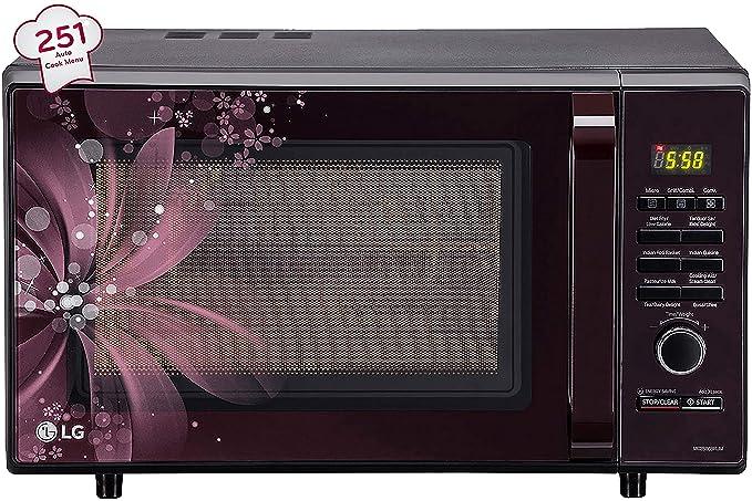 LG 28 L Convection Microwave Oven (MC2886BRUM, Black)