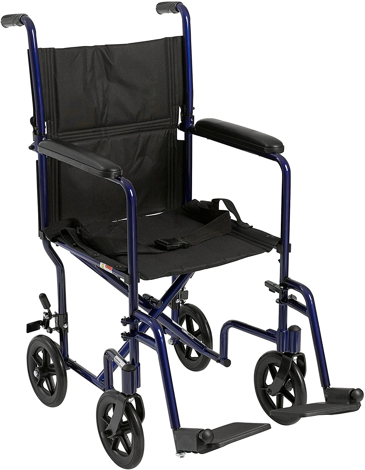 "Drive Medical Aluminum Transport Chair, 19"", Blue 91kw5ih1COL"