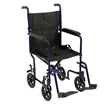 Amazon.com: Silla de ruedas médica de aluminio, 19 ...