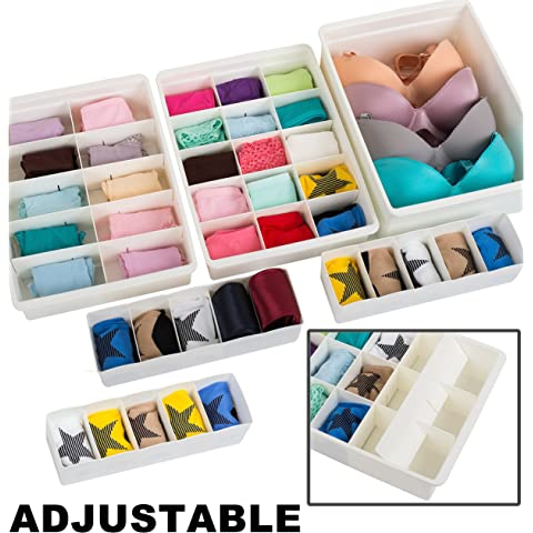 Amazon.com: Whitmor 6064-A186 Drawer Organizers Small 6 Count ...