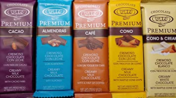 Cortes Premium Chocolate 1.4 Ounce Bars 5 Flavor Assortment (5 Bars)