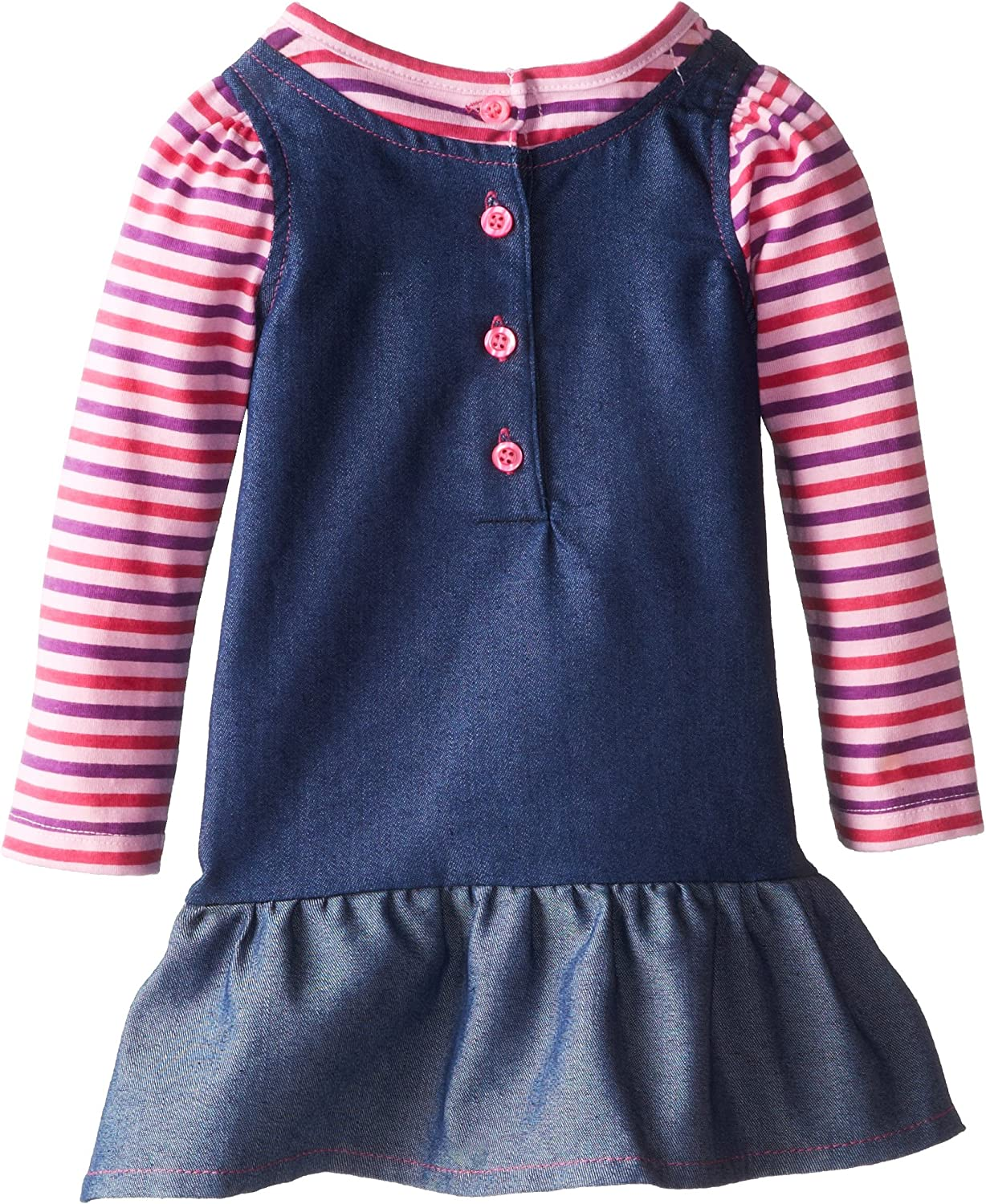Kids Headquarters Baby Girls Long Sleeve Dress with Butterfly
