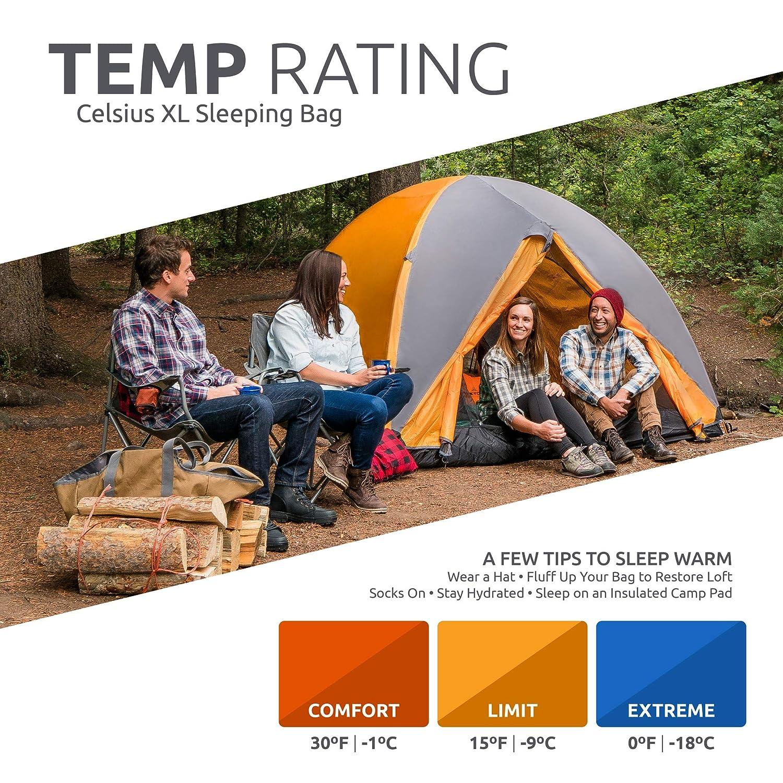 Teton Sports Celsius XL -18 C/0 F Saco de Dormir: Amazon.es: Deportes y aire libre