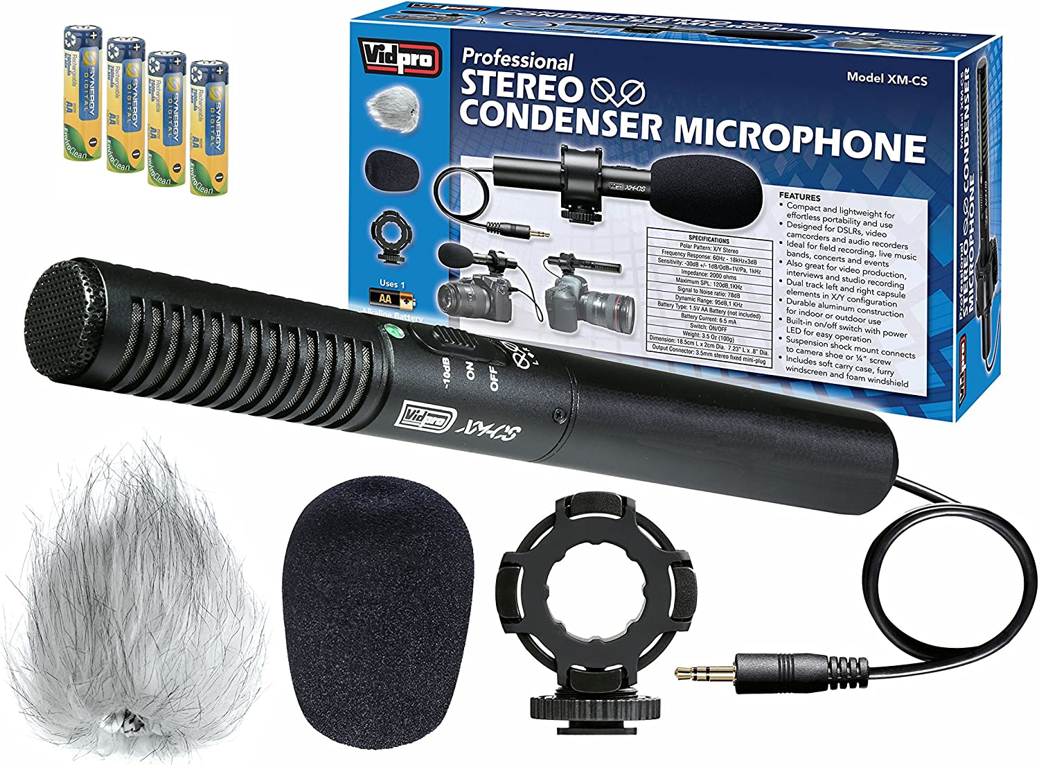 Amazon Com Sony Hdr Cx380 Camcorder External Microphone Vidpro