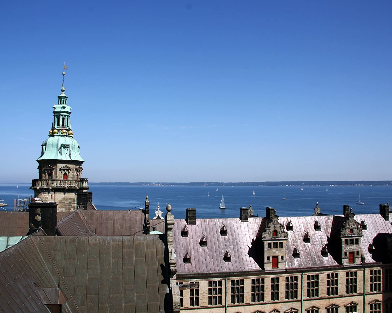 Amazoncom Helsingborg Sweden And Sail Boats From Kronborg Slot