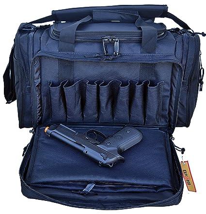 94acb5523f Explorer Large Padded Deluxe Tactical Range Bag - Rangemaster Gear Bag  (Black)