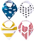 """Amazon Price History for:Baby Bandana Drool Bibs for Drooling and Teething 4 Pack Gift Set For Boys and Girls """"Indie Set"""" by Copper Pearl"""