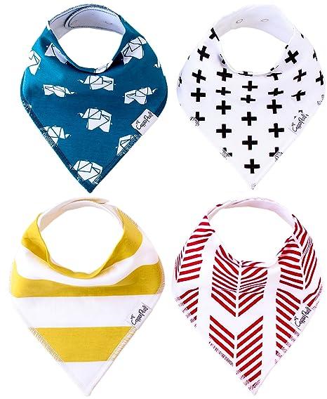 Bebé Bandana Drool baberos Indie 4 unidades de Unisex moderno algodón baberos bebé Set de regalo