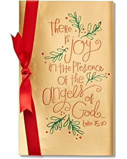 Amazon american greetings christmas with you sentimental american greetings there is joy religious christmas card with foil m4hsunfo