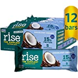 Rise Pea Protein Bar, Carob Coconut, Soy Free, Paleo Breakfast & Snack Bar, 15g Protein , 5 Natural Whole Food…