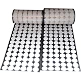 Vkey 720pcs ( 360Pair Sets) 16mm Diameter Sticky Back Coins Hook & Loop Self Adhesive Dots Tapes (White)