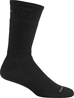 product image for Darn Tough 1480 Men's Merino Wool Standard Mid-Calf Light Socks, Black, Small (5.5-7.5) - 6 Pack