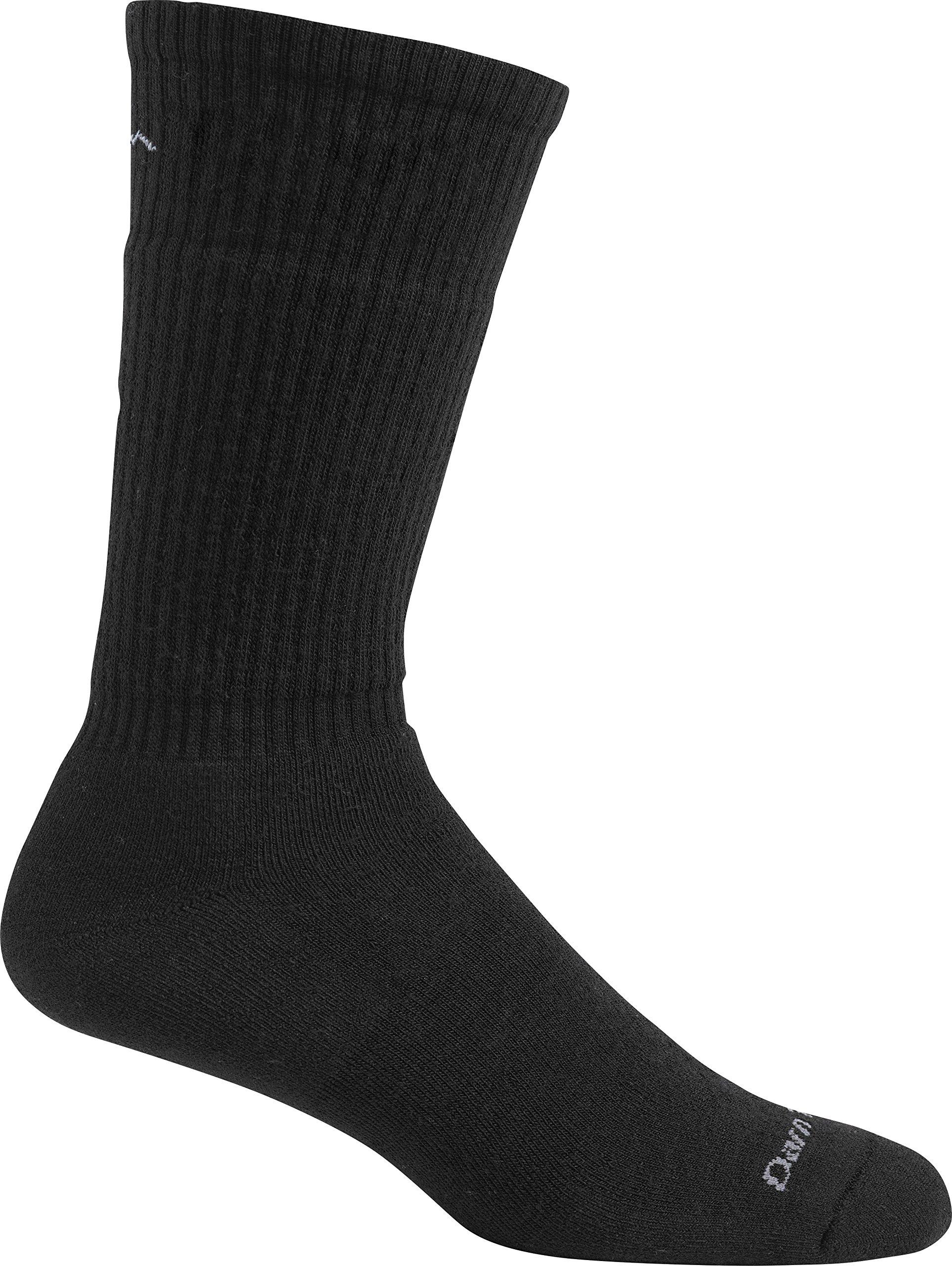 Darn Tough Standard Issue Mid Calf Light Sock,  Black,  X-Large / 12.5-14.5