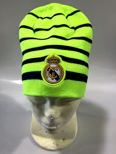Amazon.com : Real Madrid FC Neon Green/Blue Winter Beanie (OSFM) : Sports & Outdoors