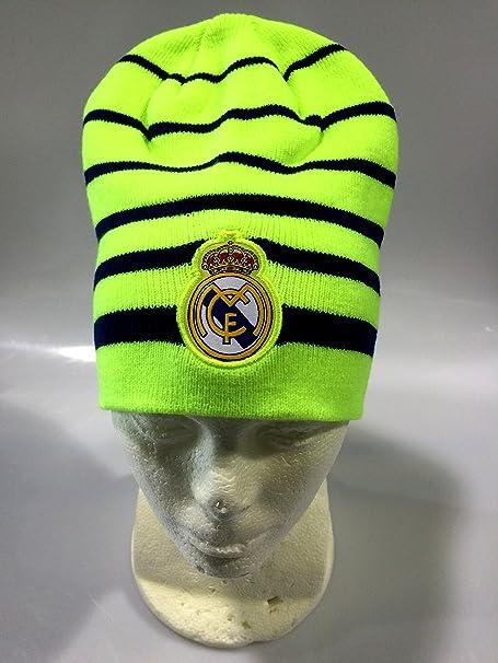 Amazon.com : Real Madrid FC Neon Green/Blue Winter Beanie (OSFM) : Sports & Outdoors