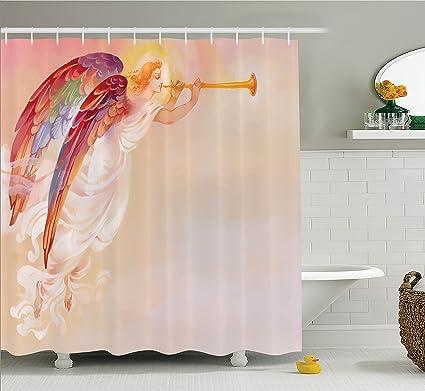 Amazon Com Ambesonne Fantasy Shower Curtain Pure Angel Religious