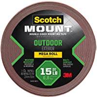 Scotch Outdoor Mounting Tape, 1-inch x 450-inches, Gray, 1-Roll (4011-LONG)