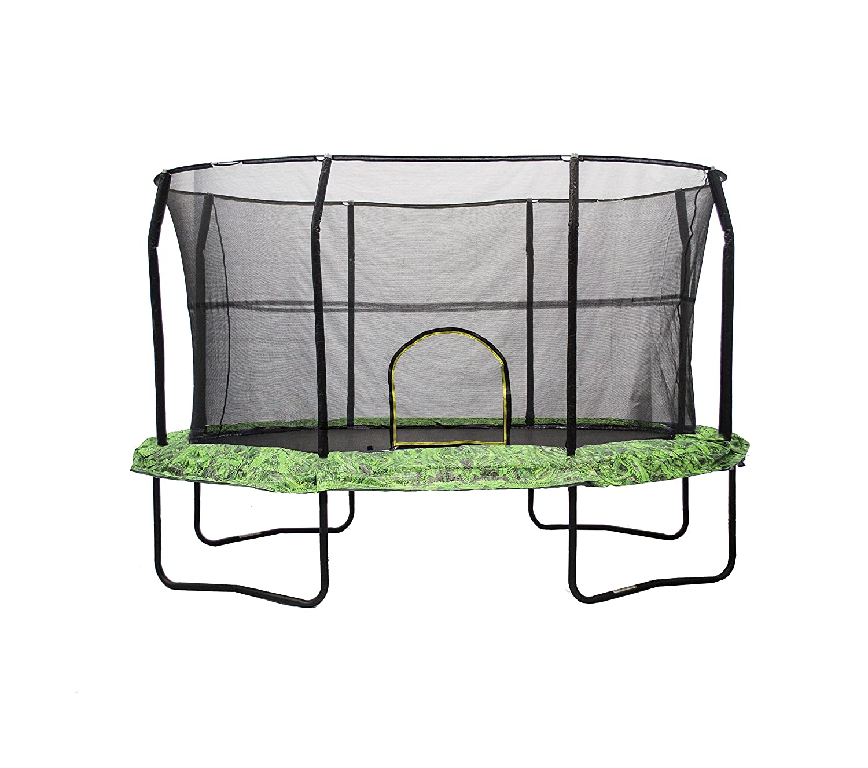 Jumpking Oval Trampoline with Fernグラフィックパッド   B00XKOTAX6