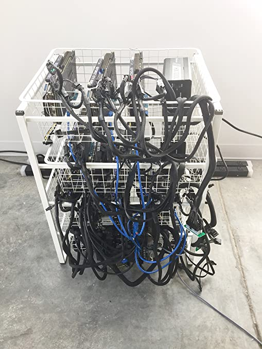 powerful 6 gpu ethereum zcash cryptocurrency mining rig