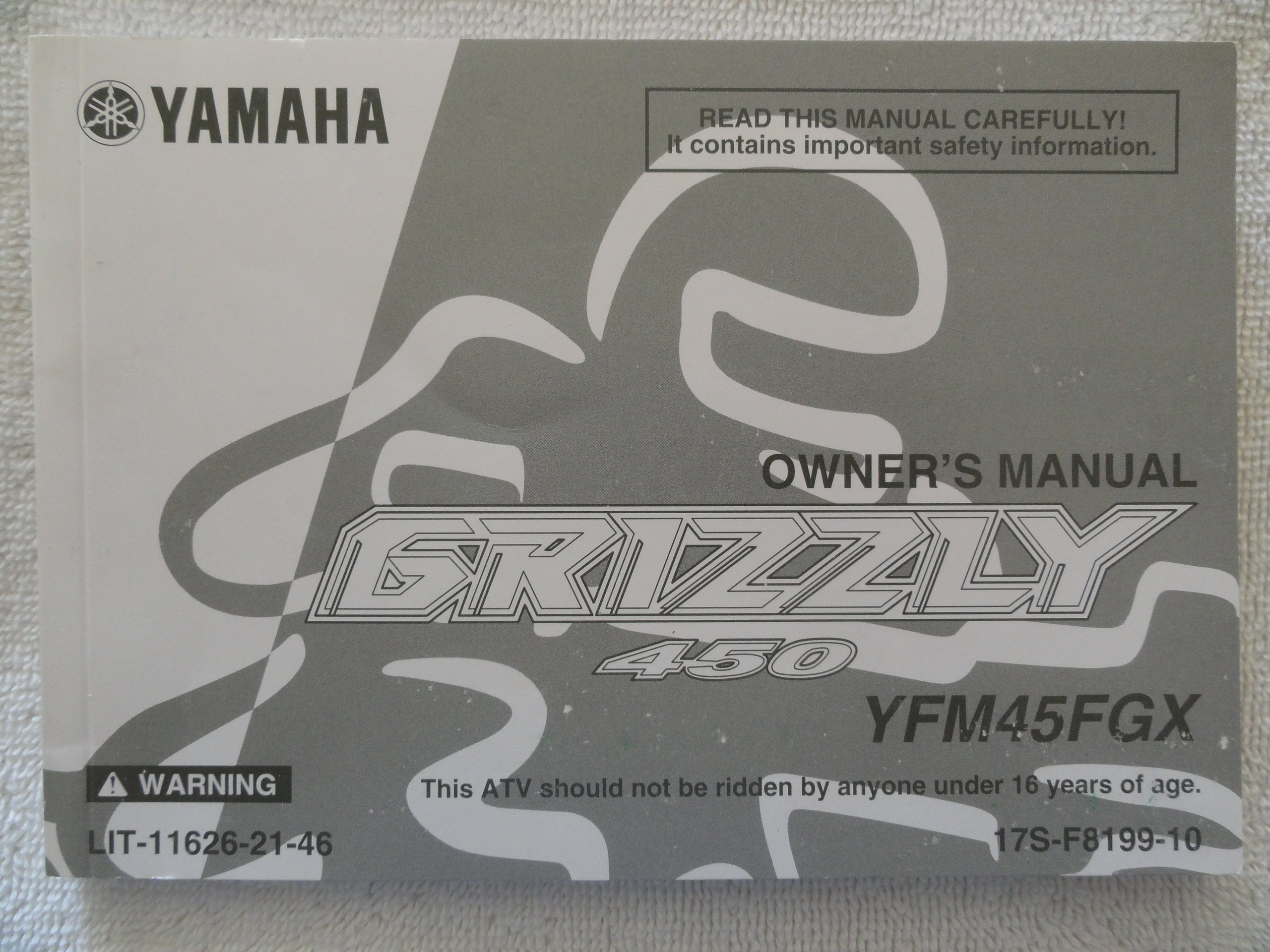 2007 2008 Yamaha Grizzly 450 Owner's Manual YFM 45 FGX: Yamaha: Amazon.com:  Books
