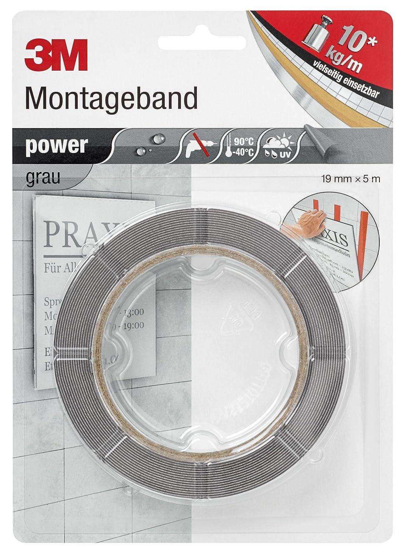3m 486248 doppelseitiges power montage klebeband 19 mm x 5 m x 0 8 mm grau ebay. Black Bedroom Furniture Sets. Home Design Ideas