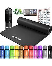 POWRX Gymnastikmatte Yogamatte Premium inkl. Trageband + Tasche + Übungsposter GRATIS I Hautfreundliche Fitnessmatte Phthalatfrei 190 x 60, 80 oder 100 x 1.5 cm I versch. Farben