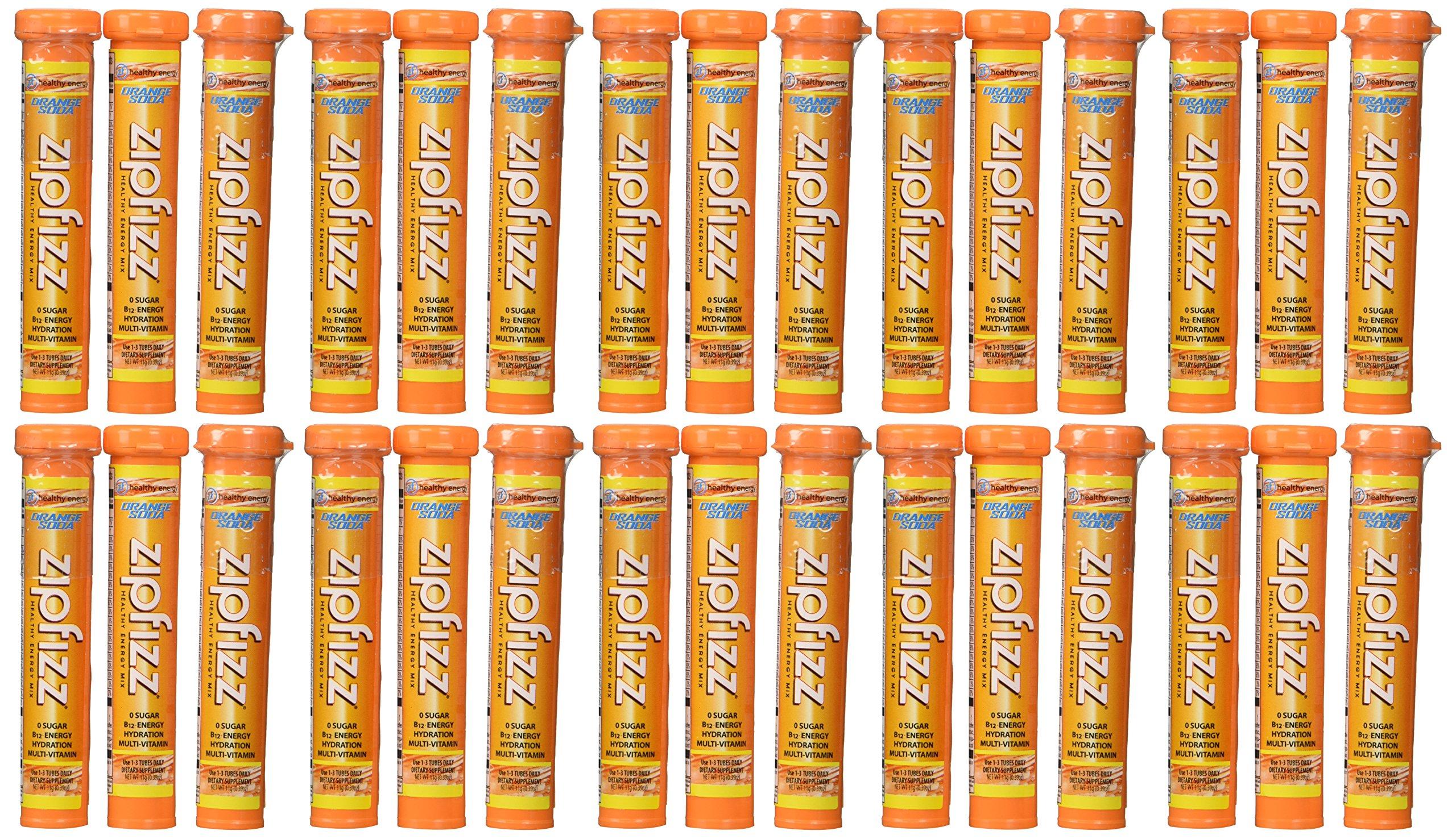 Zipfizz Orange Soda Healthy Energy Drink Mix - Transform Your Water Into a Healthy Energy Drink - 30 Orange Soda Tubes