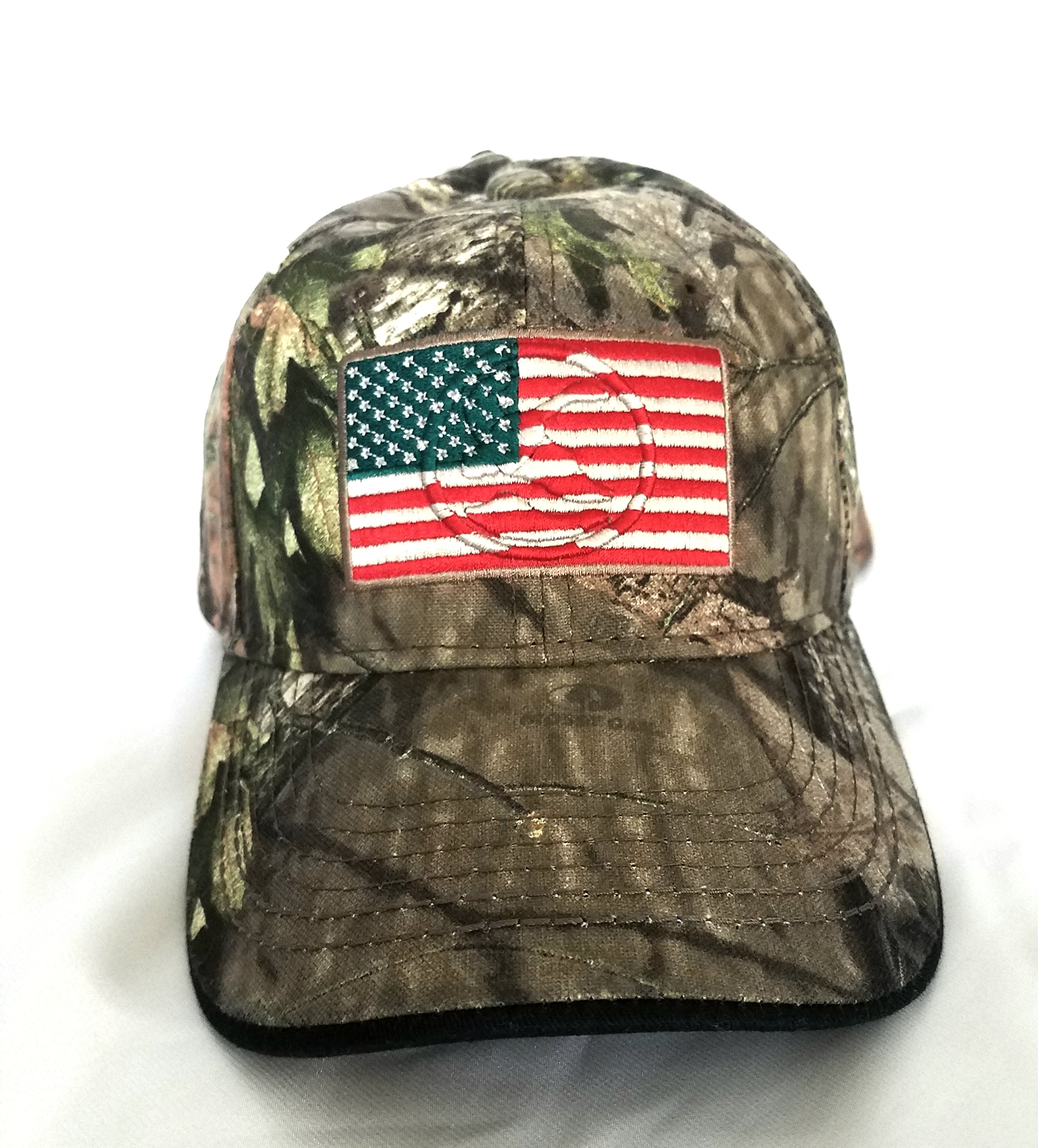 Mossy Oak Camping, Hunting, Outdoors American Flag Camo Cap, Army Military Camo Cap Baseball, Camouflage Hat by Mossy Oak (Image #2)