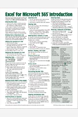 Excel for Microsoft 365 (Office 365) Introduction Quick Reference Guide - Windows Version (Cheat Sheet of Instructions, Tips & Shortcuts - Laminated Card) Pamphlet