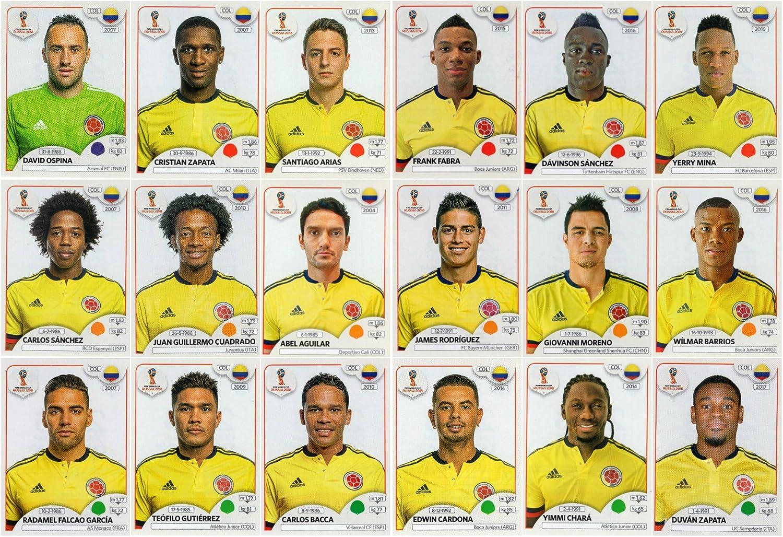World Cup 2018 PANINI Juego de 18 Pegatinas de Colores para ...