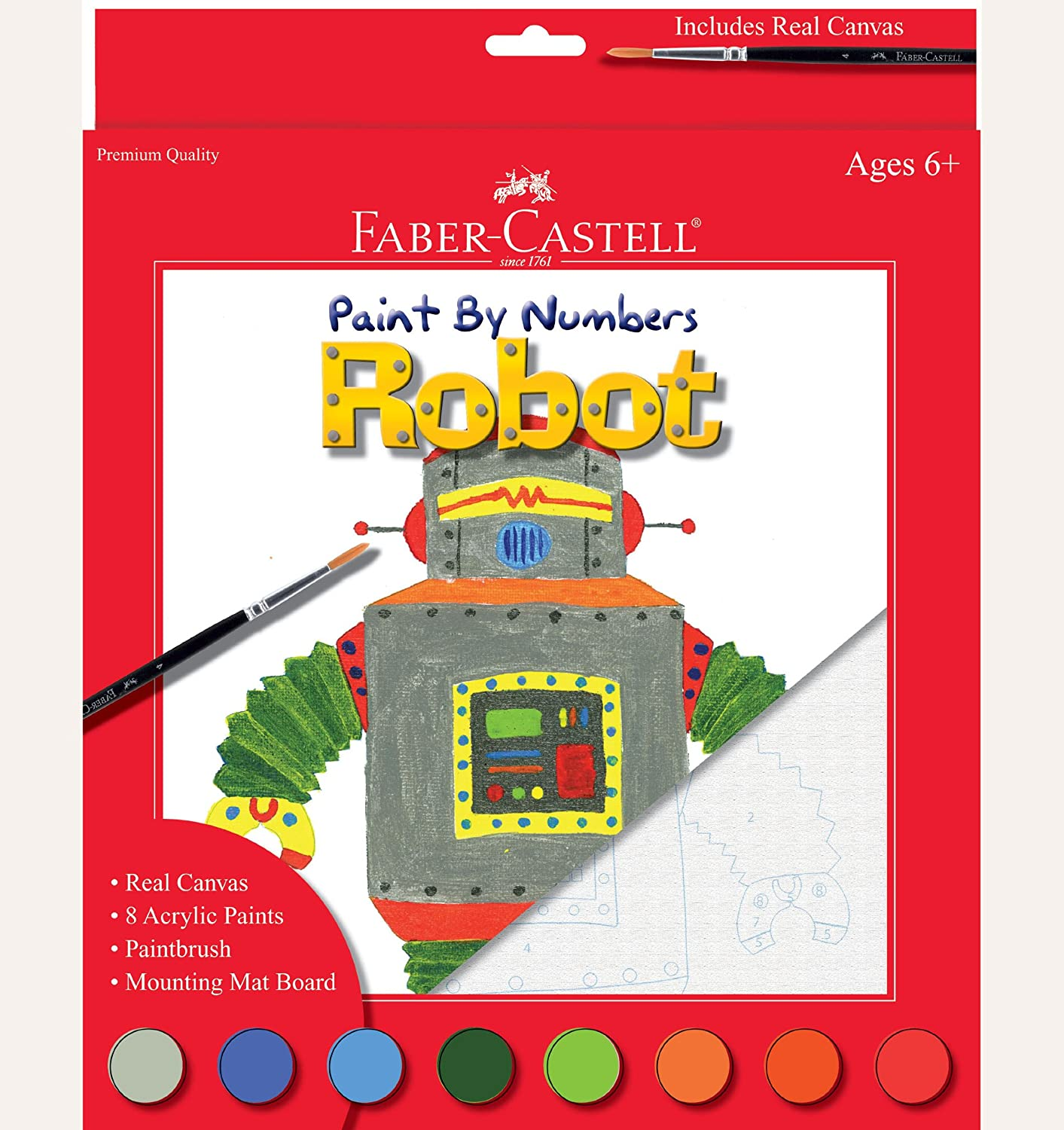 creativity for kids paint by number robot paint by number kits