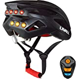 Livall 2017 Smart Bike Bluetooth Helmet with Wireless Handlebar Remote Control - Tail Light Turn Signals, Safety LEDS and Bluetooth Speakers - Black