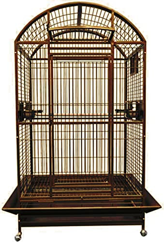 King s Cages 9004030 PARROT CAGE Dome Top Bird Cage With New Locks toy toys Macaws cockatoo COPPERTONE