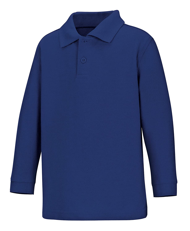 Classroom Kids' Toddler Preschool Unisex Long Sleeve Pique Polo 58350