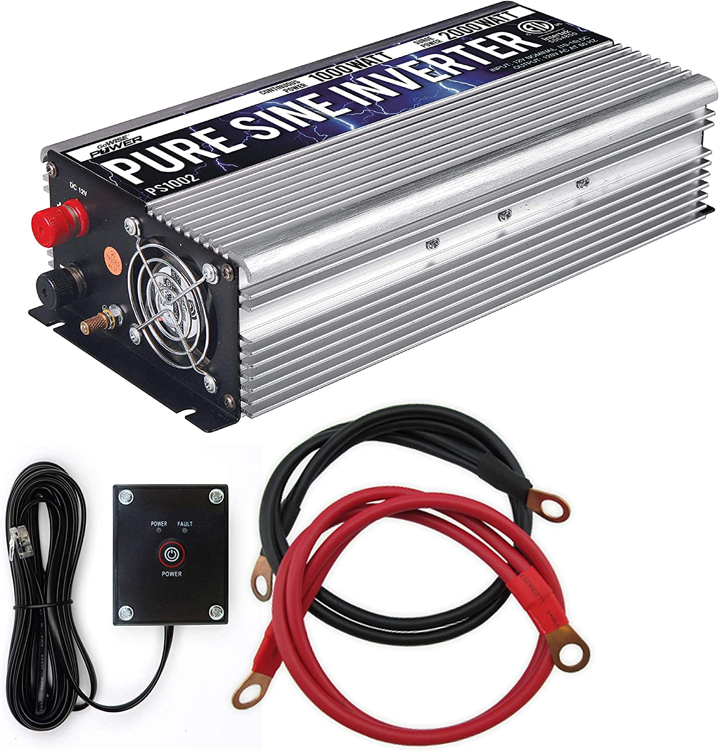 GoWISE Power 1000W Pure Sine Wave Inverter
