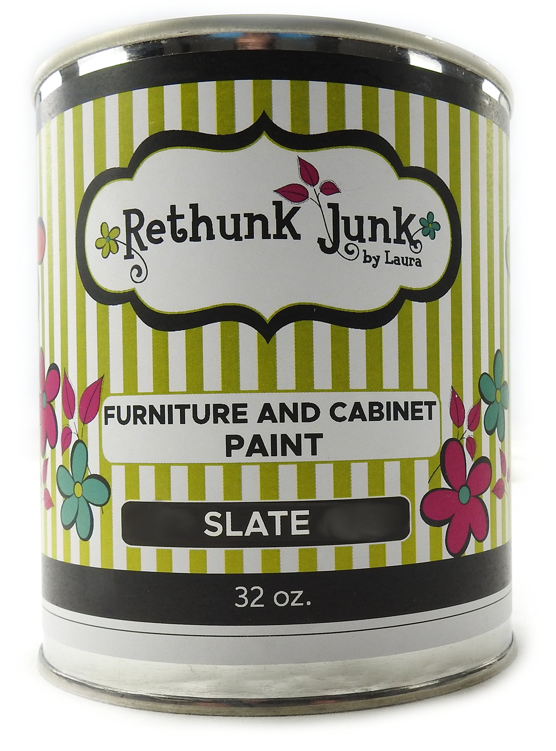 Rethunk Junk by Laura Furniture & Cabinet Paint (Quart, Slate)