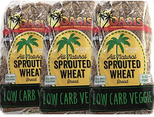 Oasis All Natural, Low Carb, Sprouted Veggie Bread