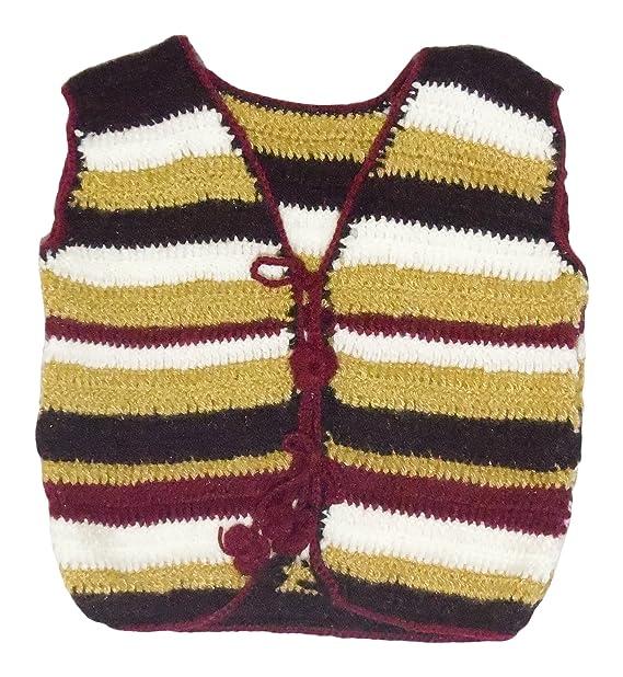 Sr Handicrafts Baby Boys Wool Sweater Sh016 0 6 Months Multi