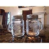 Mini Mason Jar Salt & Pepper Pots - Glass Salt and Pepper Shakers Unusual gift idea - kitchen accessories