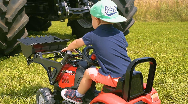 Tractor a pedales con pala y remolque color rojo Falk 961AM