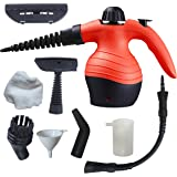 Handheld Steam Cleaner | Compact & Lightweight Device For Steaming And Ironing, Versatile And Multipurpose, Ideal For Domestic Use, Perfect For Cleaning And Disinfecting Your Home, No Chemicals, Red