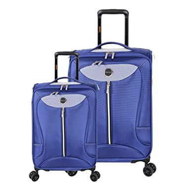 Lucas Luggage Adrenaline 2 Piece Softside Expandable Spinner Suitcase Set
