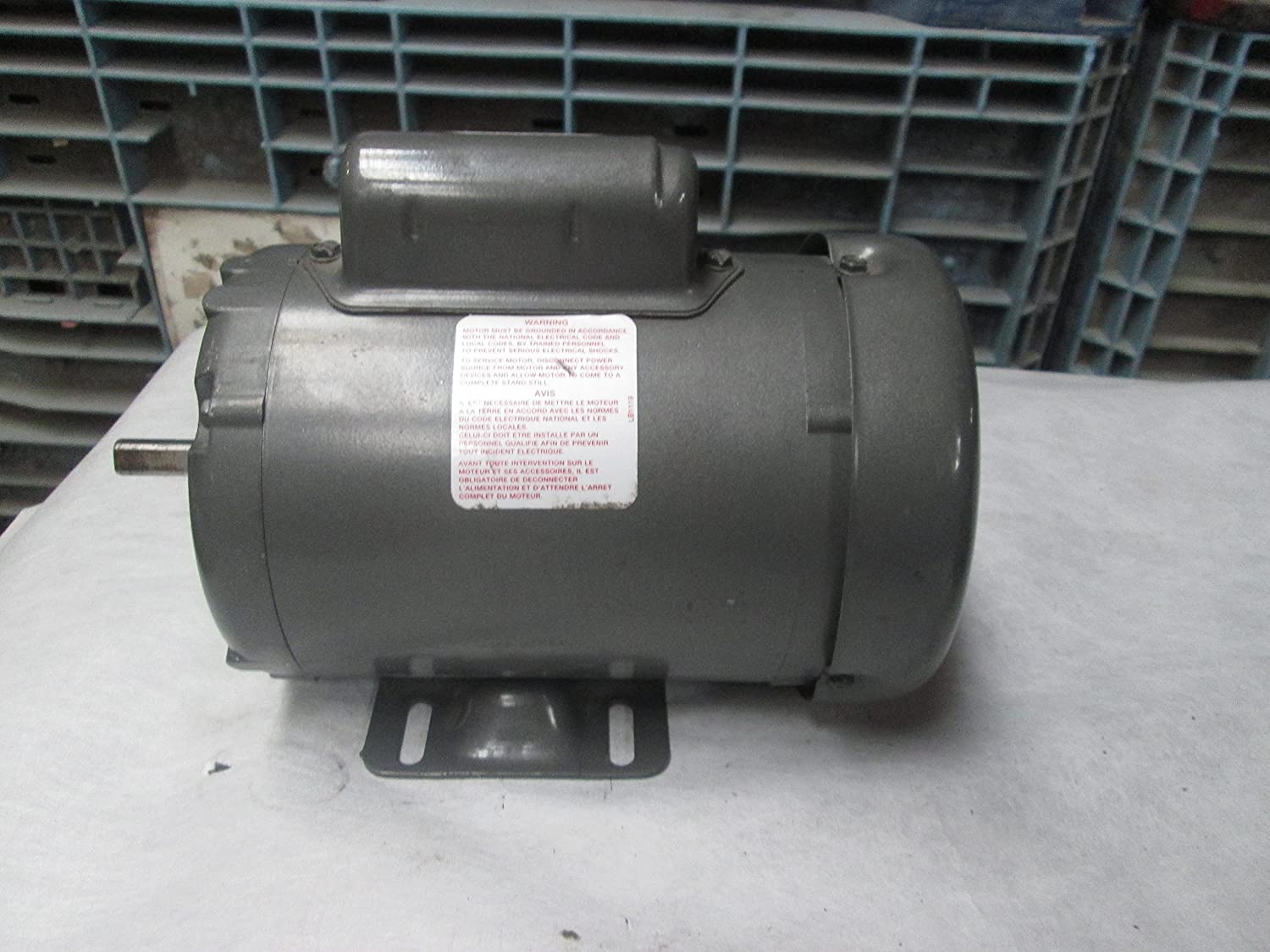 Baldor L3406 General Purpose AC Motor, Single Phase, 48 Frame, TEFC Enclosure, 33/100Hp Output, 1725rpm, 60Hz, 115/230V Voltage by Baldor B007ZQR3OS