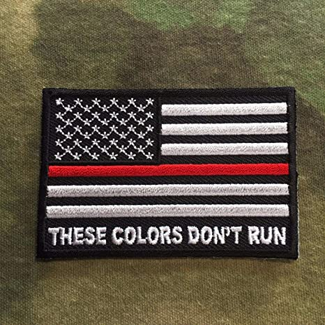 AMERICAN FLAG THESE COLORS DON/'T RUN IRON ON PATCH
